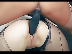 free lesbian double dildo